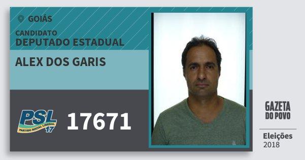 Santinho Alex dos Garis 17671 (PSL) Deputado Estadual | Goiás | Eleições 2018