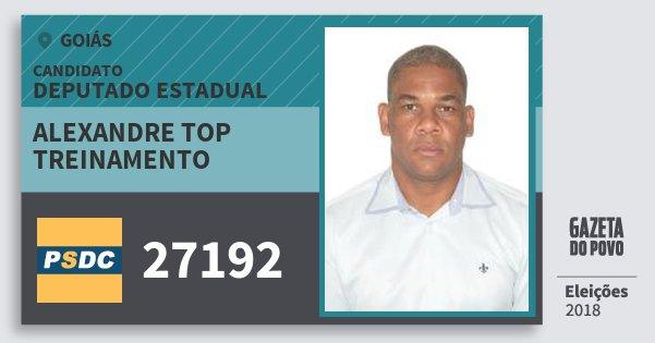 Santinho Alexandre Top Treinamento 27192 (DC) Deputado Estadual | Goiás | Eleições 2018