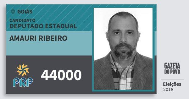 Santinho Amauri Ribeiro 44000 (PRP) Deputado Estadual | Goiás | Eleições 2018
