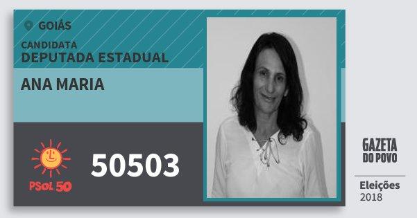 Santinho Ana Maria 50503 (PSOL) Deputada Estadual | Goiás | Eleições 2018