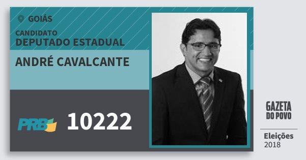 Santinho André Cavalcante 10222 (PRB) Deputado Estadual | Goiás | Eleições 2018