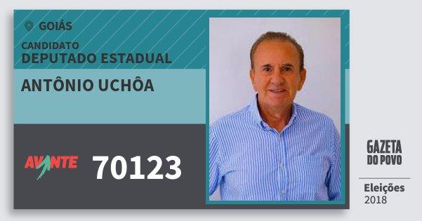 Santinho Antônio Uchôa 70123 (AVANTE) Deputado Estadual | Goiás | Eleições 2018