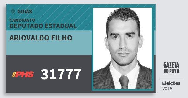 Santinho Ariovaldo Filho 31777 (PHS) Deputado Estadual | Goiás | Eleições 2018