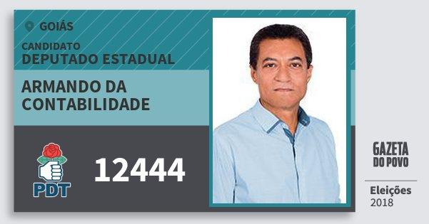Santinho Armando da Contabilidade 12444 (PDT) Deputado Estadual | Goiás | Eleições 2018