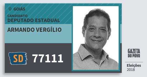 Santinho Armando Vergílio 77111 (SOLIDARIEDADE) Deputado Estadual | Goiás | Eleições 2018