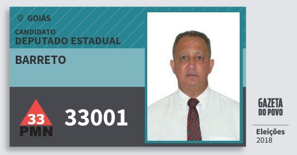 Santinho Barreto 33001 (PMN) Deputado Estadual | Goiás | Eleições 2018