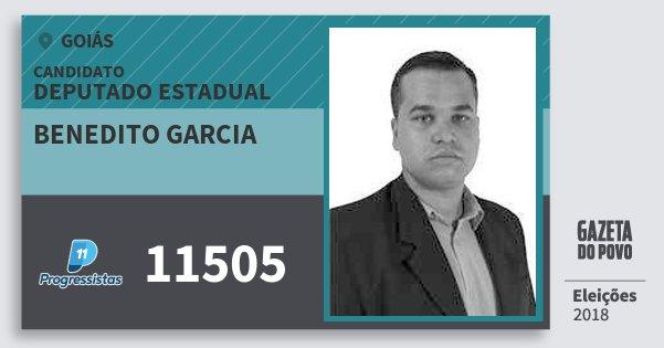 Santinho Benedito Garcia 11505 (PP) Deputado Estadual | Goiás | Eleições 2018