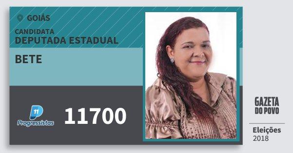 Santinho Bete 11700 (PP) Deputada Estadual | Goiás | Eleições 2018