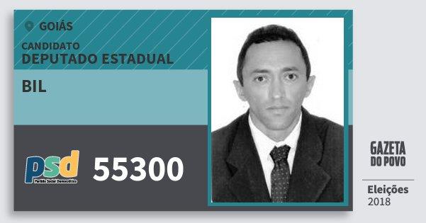 Santinho Bil 55300 (PSD) Deputado Estadual | Goiás | Eleições 2018