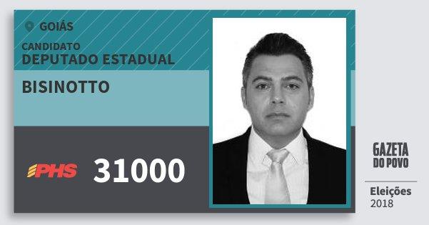 Santinho Bisinotto 31000 (PHS) Deputado Estadual | Goiás | Eleições 2018