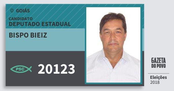 Santinho Bispo Bieiz 20123 (PSC) Deputado Estadual | Goiás | Eleições 2018