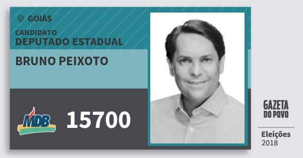 Santinho Bruno Peixoto 15700 (MDB) Deputado Estadual | Goiás | Eleições 2018