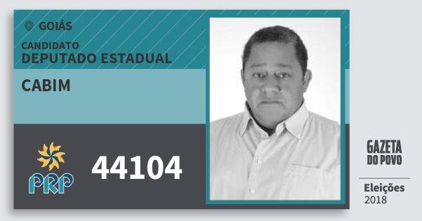 Santinho Cabim 44104 (PRP) Deputado Estadual | Goiás | Eleições 2018
