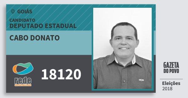 Santinho Cabo Donato 18120 (REDE) Deputado Estadual | Goiás | Eleições 2018