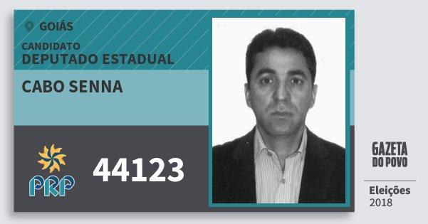 Santinho Cabo Senna 44123 (PRP) Deputado Estadual | Goiás | Eleições 2018