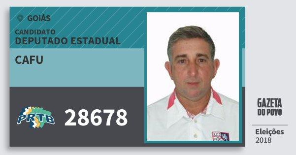 Santinho Cafu 28678 (PRTB) Deputado Estadual | Goiás | Eleições 2018