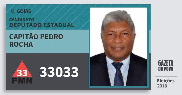 Santinho Capitão Pedro Rocha 33033 (PMN) Deputado Estadual   Goiás   Eleições 2018