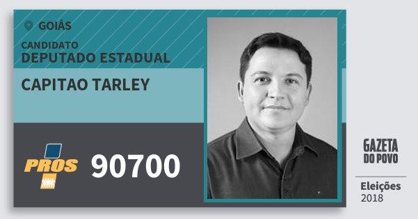 Santinho Capitao Tarley 90700 (PROS) Deputado Estadual | Goiás | Eleições 2018