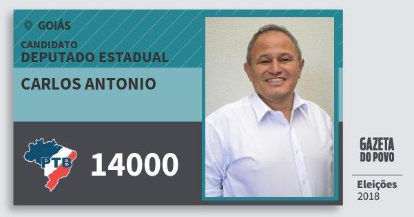 Santinho Carlos Antonio 14000 (PTB) Deputado Estadual | Goiás | Eleições 2018