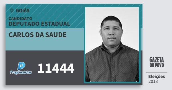 Santinho Carlos da Saude 11444 (PP) Deputado Estadual | Goiás | Eleições 2018