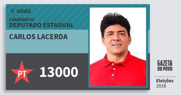 Santinho Carlos Lacerda 13000 (PT) Deputado Estadual | Goiás | Eleições 2018