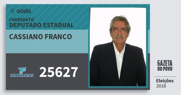 Santinho Cassiano Franco 25627 (DEM) Deputado Estadual | Goiás | Eleições 2018