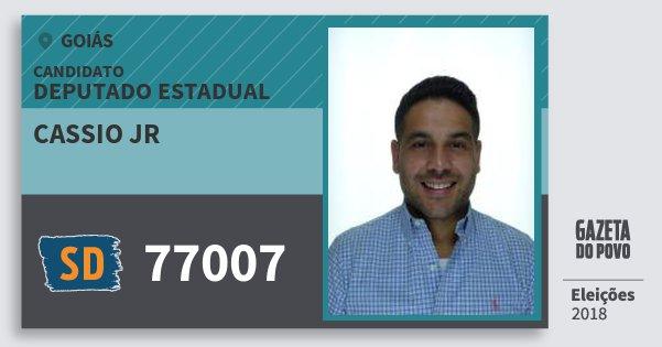Santinho Cassio Jr 77007 (SOLIDARIEDADE) Deputado Estadual | Goiás | Eleições 2018