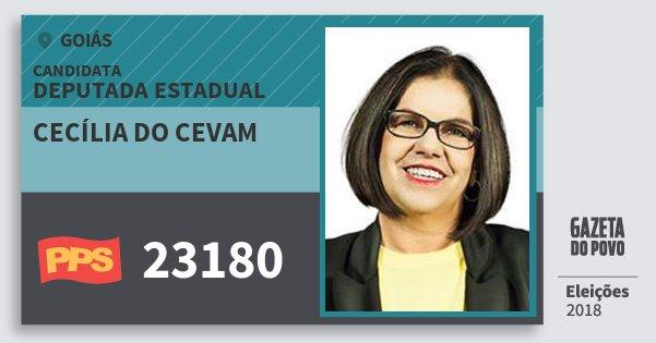 Santinho Cecília do Cevam 23180 (PPS) Deputada Estadual | Goiás | Eleições 2018