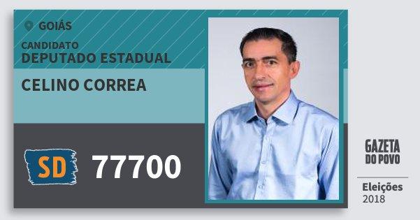 Santinho Celino Correa 77700 (SOLIDARIEDADE) Deputado Estadual | Goiás | Eleições 2018
