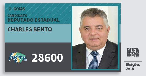 Santinho Charles Bento 28600 (PRTB) Deputado Estadual | Goiás | Eleições 2018