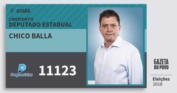Santinho Chico Balla 11123 (PP) Deputado Estadual | Goiás | Eleições 2018