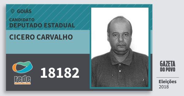 Santinho Cicero Carvalho 18182 (REDE) Deputado Estadual | Goiás | Eleições 2018