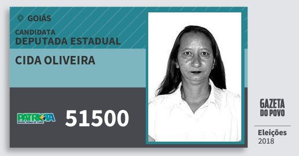 Santinho Cida Oliveira 51500 (PATRI) Deputada Estadual | Goiás | Eleições 2018