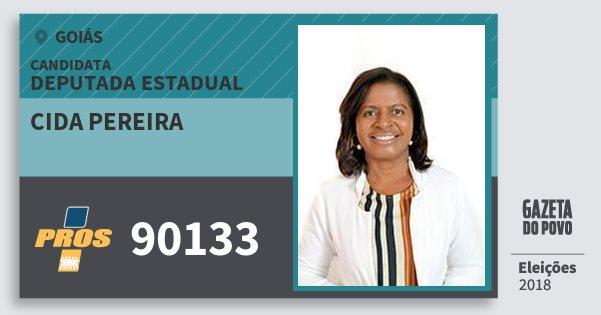 Santinho Cida Pereira 90133 (PROS) Deputada Estadual | Goiás | Eleições 2018