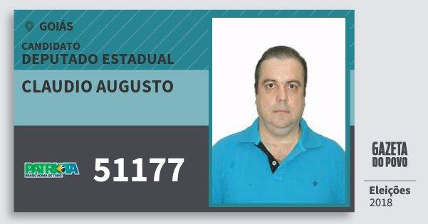 Santinho Claudio Augusto 51177 (PATRI) Deputado Estadual | Goiás | Eleições 2018