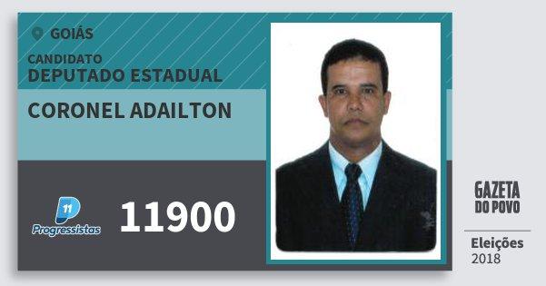 Santinho Coronel Adailton 11900 (PP) Deputado Estadual | Goiás | Eleições 2018