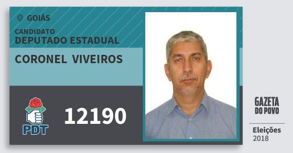 Santinho Coronel  Viveiros 12190 (PDT) Deputado Estadual | Goiás | Eleições 2018