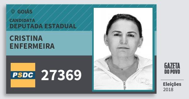 Santinho Cristina Enfermeira 27369 (DC) Deputada Estadual | Goiás | Eleições 2018