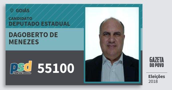 Santinho Dagoberto de Menezes 55100 (PSD) Deputado Estadual | Goiás | Eleições 2018