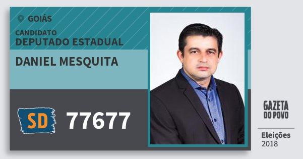 Santinho Daniel Mesquita 77677 (SOLIDARIEDADE) Deputado Estadual | Goiás | Eleições 2018