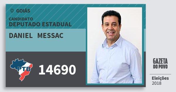 Santinho Daniel   Messac 14690 (PTB) Deputado Estadual | Goiás | Eleições 2018
