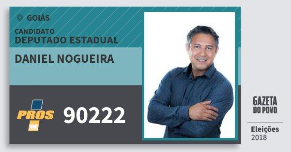 Santinho Daniel Nogueira 90222 (PROS) Deputado Estadual | Goiás | Eleições 2018