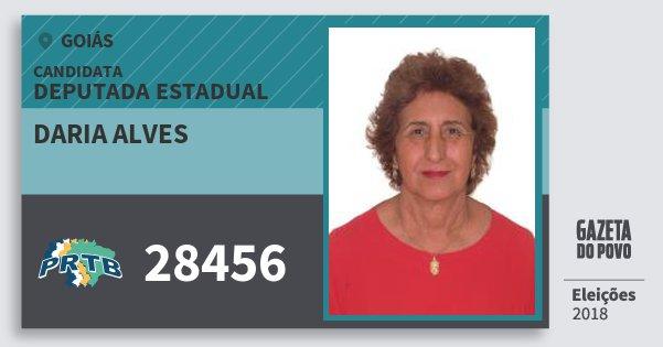 Santinho Daria Alves 28456 (PRTB) Deputada Estadual | Goiás | Eleições 2018