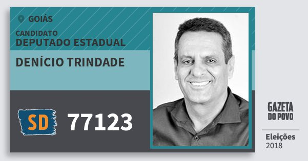 Santinho Denício Trindade 77123 (SOLIDARIEDADE) Deputado Estadual | Goiás | Eleições 2018