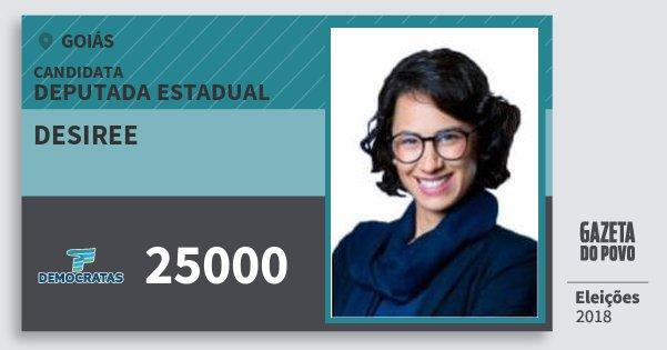 Santinho Desiree 25000 (DEM) Deputada Estadual | Goiás | Eleições 2018