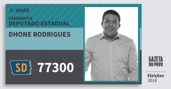 Santinho Dhone Rodrigues 77300 (SOLIDARIEDADE) Deputado Estadual | Goiás | Eleições 2018