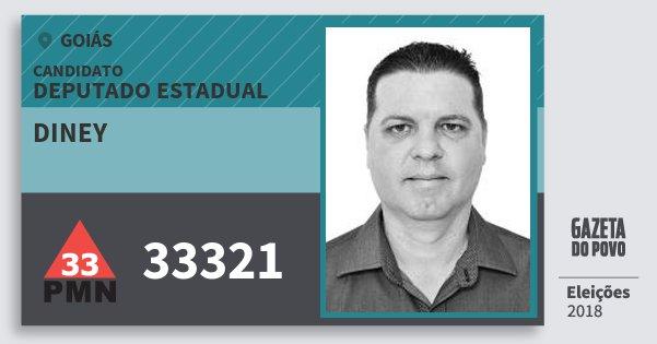 Santinho Diney 33321 (PMN) Deputado Estadual | Goiás | Eleições 2018