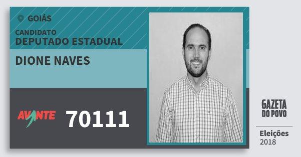 Santinho Dione Naves 70111 (AVANTE) Deputado Estadual | Goiás | Eleições 2018