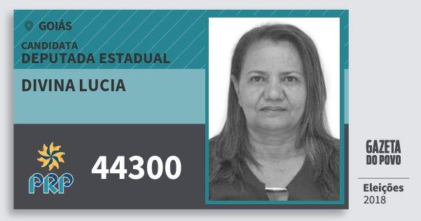 Santinho Divina Lucia 44300 (PRP) Deputada Estadual | Goiás | Eleições 2018