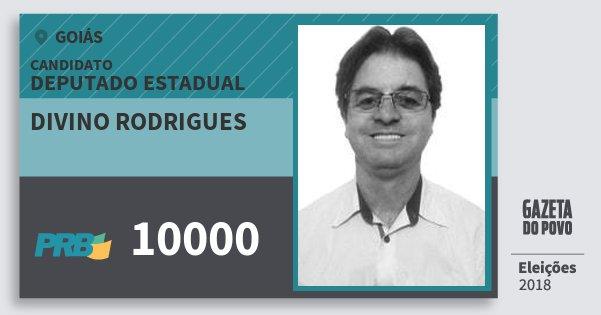 Santinho Divino Rodrigues 10000 (PRB) Deputado Estadual | Goiás | Eleições 2018